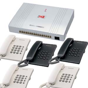 IKE analogue intercom package with 5 telephones