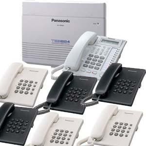 Panasonic intercom PBX package with 16 telephones